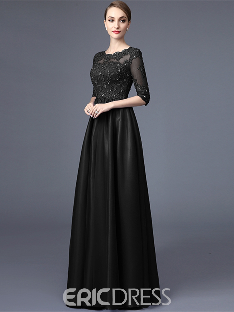 Ericdress Elegant A-Line Half Sleeves Lace Evening Dress