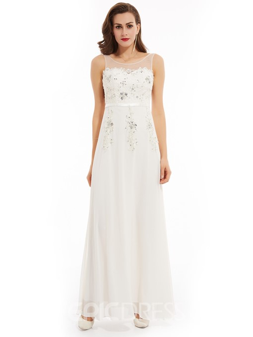 Ericdress Beaded Appliques A Line Evening Dress
