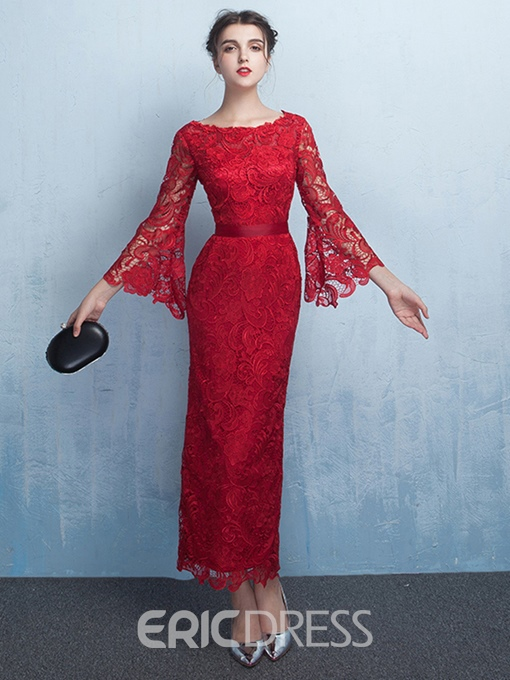Ericdress Sheath Sleeves Lace Evening Dress