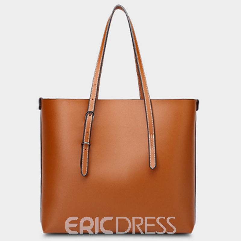 Ericdress Casual Plain Soft PU Shoulder Bag