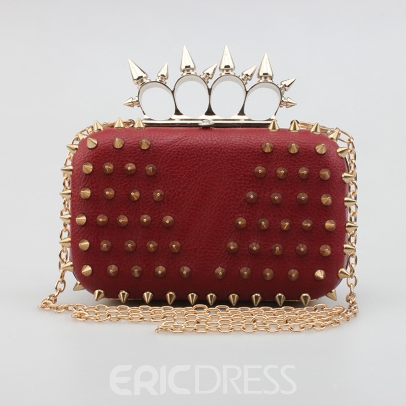 Ericdress Cool Rivets Embellished Evening Clutch