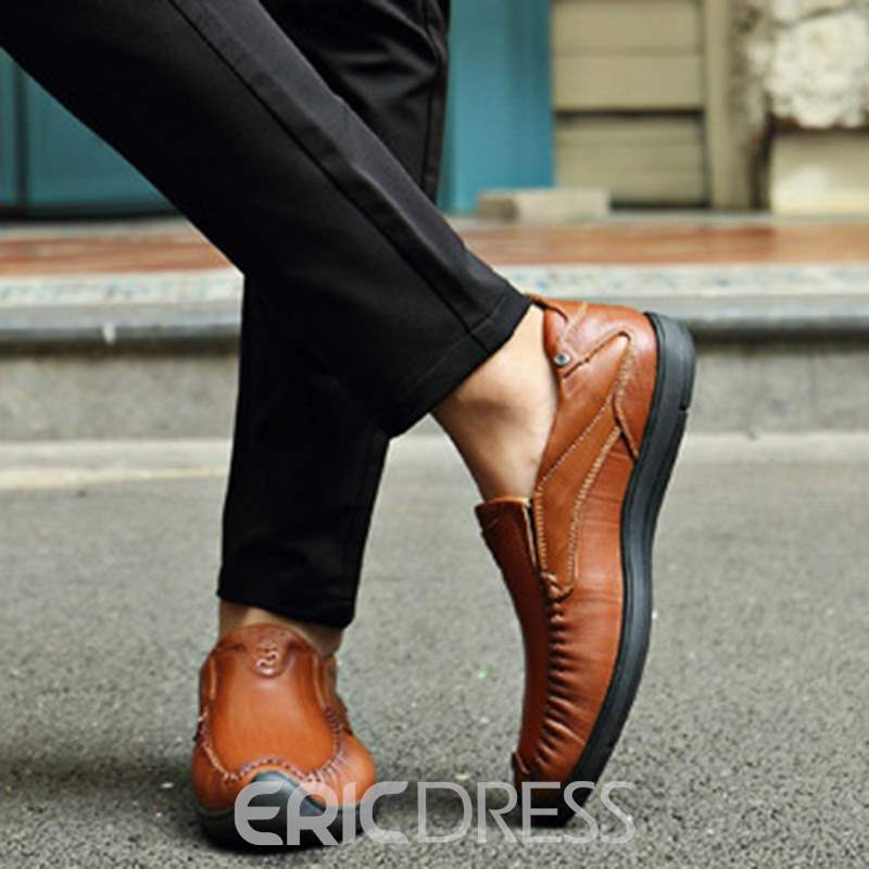 Ericdress Trendy Patent Leather Men's Casual Shoes
