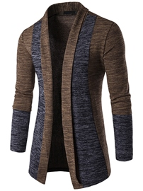 Pull ericdress couleur bloc cardigan hommes occasionnels