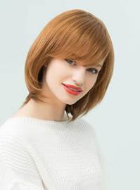 Ericdress Medium Straight Human Hair With Bangs Capless Cap Wigs 14 Inches