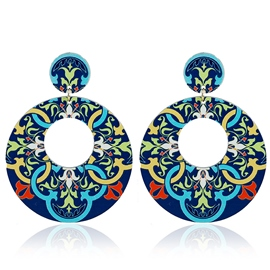 Ericdress Alloy Applique Round Retro Earrings