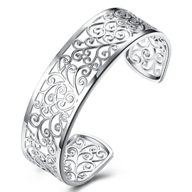 Ericdress Silver Plated Branches Hollow-Out Women's Bracelet