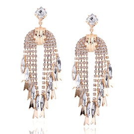 Ericdress Shiny Alloy Rhinestone Inlaid Earrings