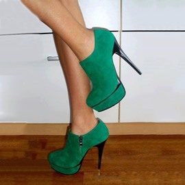 Ericdress Emerald Green Platform High Heel Boots