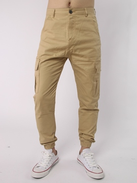 Ericdress Plain Unique Big Pocket Casual Men's Pants