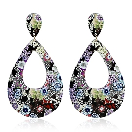 Ericdress Water Drop Shaped Paster Vintage Earrings