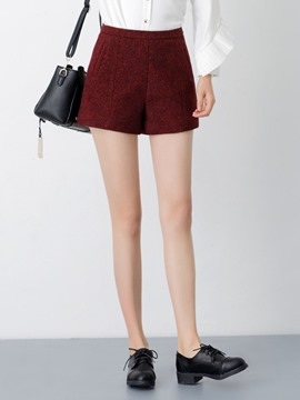 Ericdress Plain Color High-Waist Thick Shorts