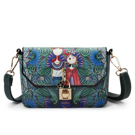 Ericdress Vintage Forest Floral Print Crossbody Bag