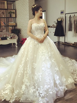 Ericdress Amazing Sweetheart Appliques Ball Gown Wedding Dress