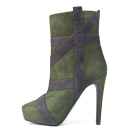 Ericdress Ribbon Appliqued Platform Fashion Booties