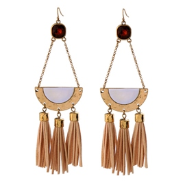 Ericdress Leather Tassels Alloy Punk Style Earrings