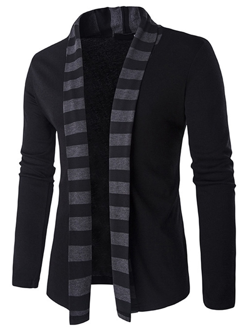 Ericdress Stripe Cardigan Casual Men's Sweater