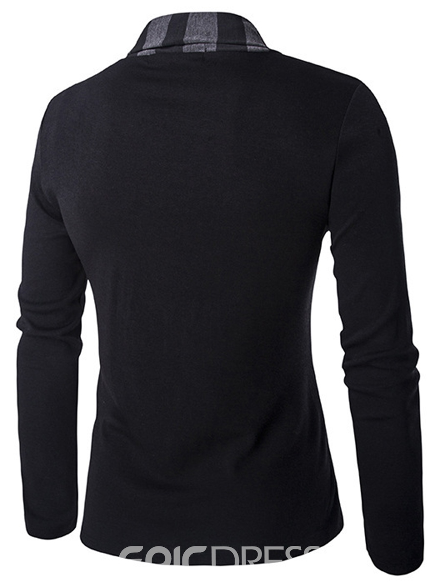 Pull ericdress rayé cardigan hommes occasionnels