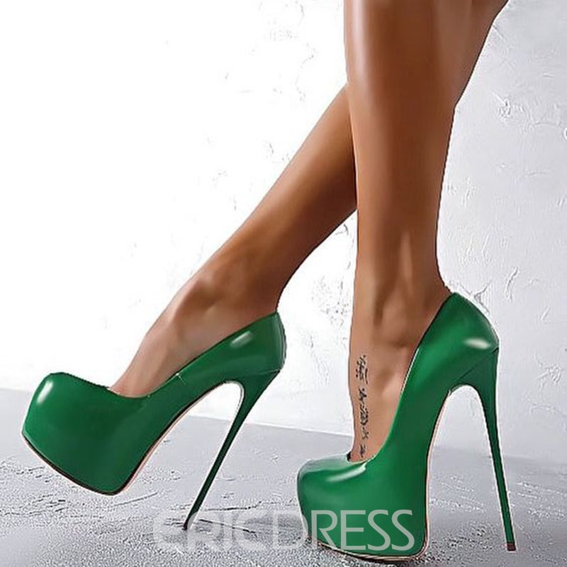 Ericdress Greenery Sky High Platform Heels Pumps