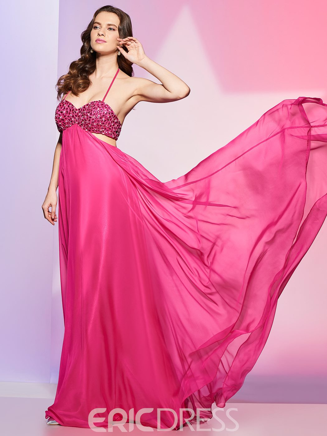 Ericdress Sexy Spaghetti Straps Beaded Sweetheart Backless Prom Dress