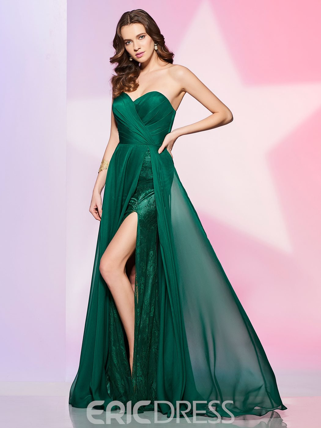 Ericdress Designer A Line Sweetheart Side Slit Floor Length Prom Dress