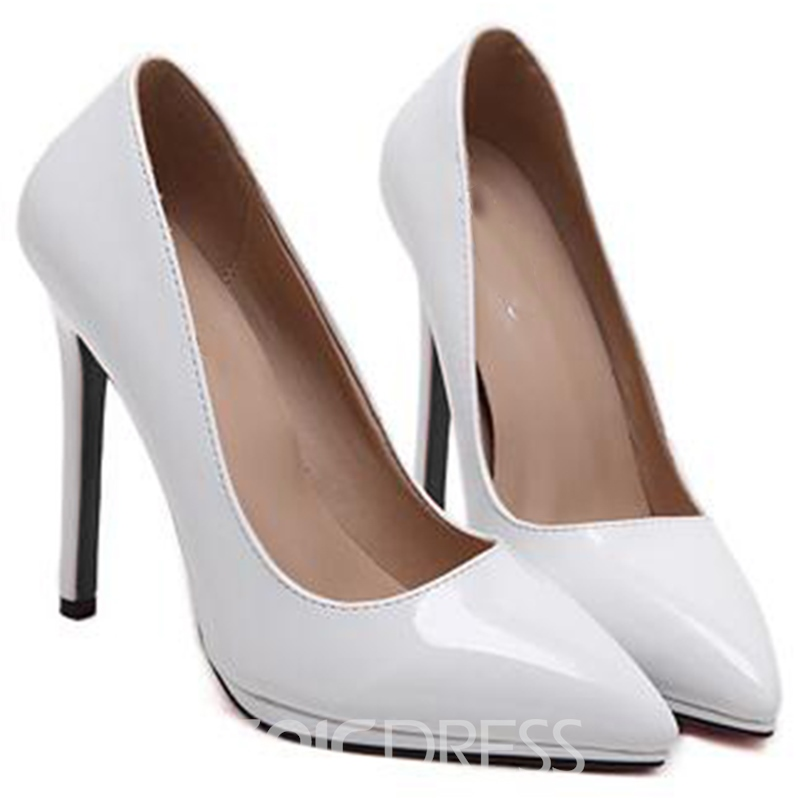 Ericdress Chic Patent Leather Point Toe Pumps
