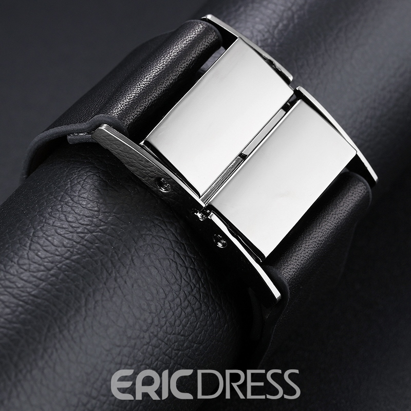 Ericdress Personality Black Wide Leather Men's Bracelet