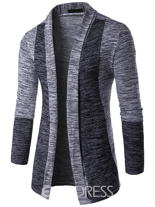 Ericdress Color Block Cardigan Casual Men's Knitwear