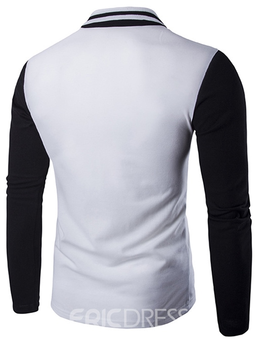 Ericdress Color Block Pocket Design Long Sleeve Men's T-Shirt