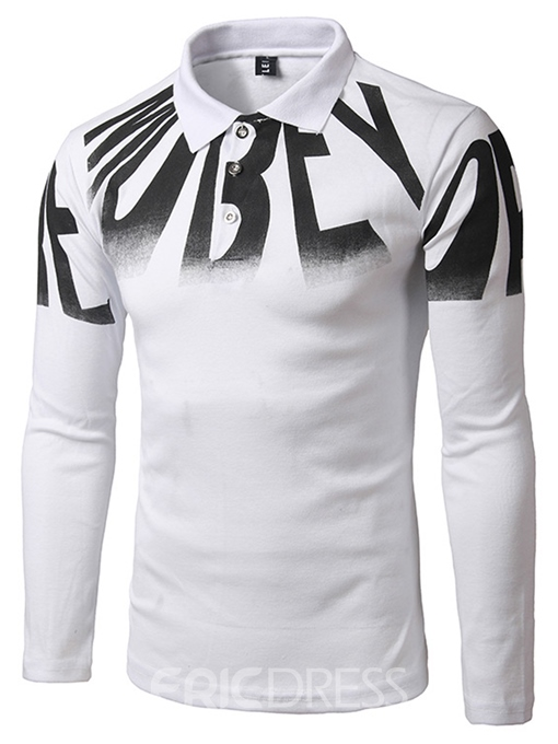 Ericdress Letter Print Long Sleeve Casual Men's T-Shirt