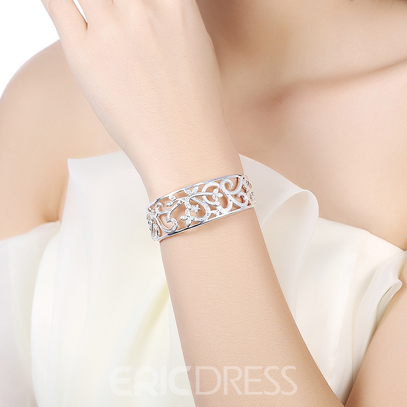 Ericdress Diamante Branches Hollow-Out Women's Bracelet