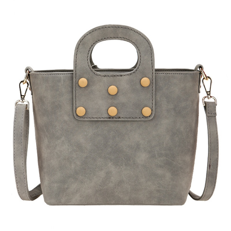 Ericdress Bold Thread Nubuck Leather Handbag