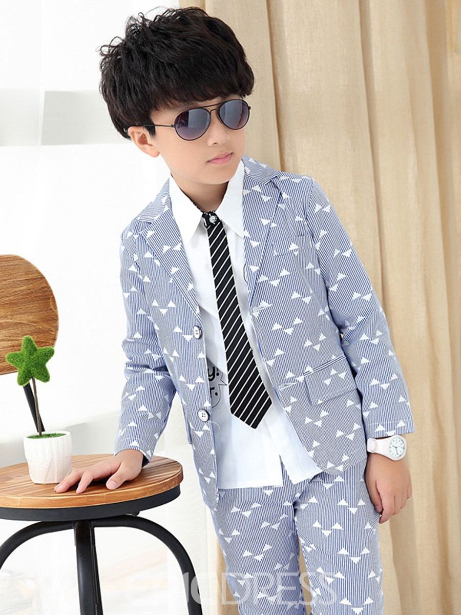 Ericdress 2-Pce Stripe Print Boys Casual Suit