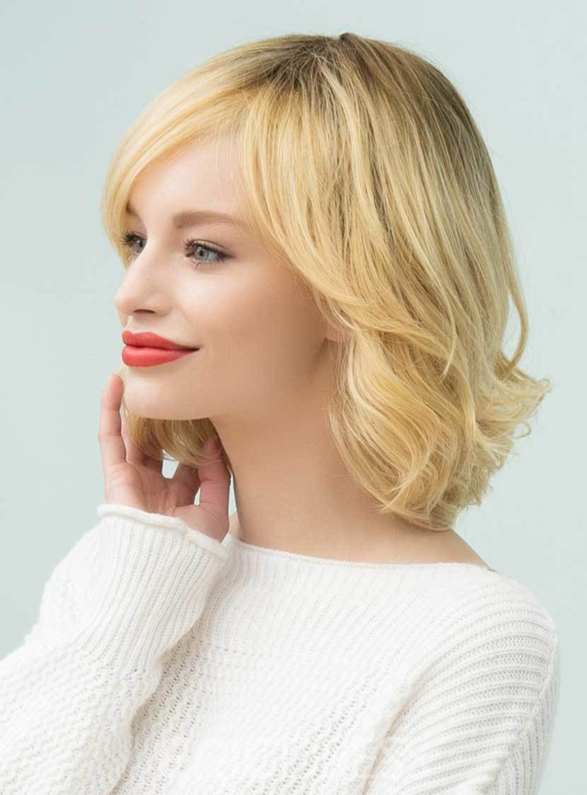 Ericdress Bob Hairstyles Wavy Mid-Length Human Hair Capless Wigs 14 Inches