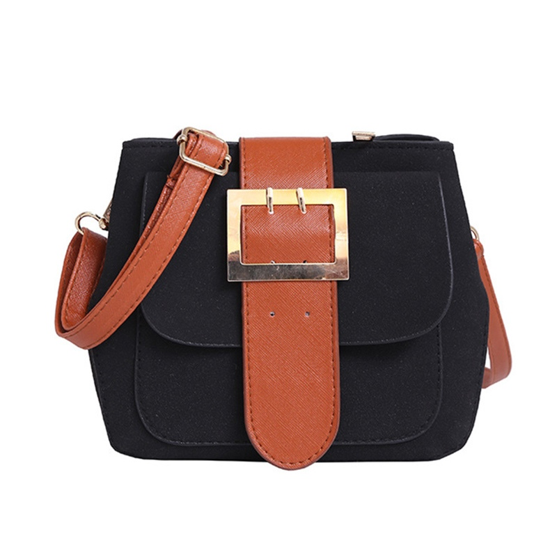 Ericdress Ethnic Belt Decorated Nubuck Leather Shoulder Bag