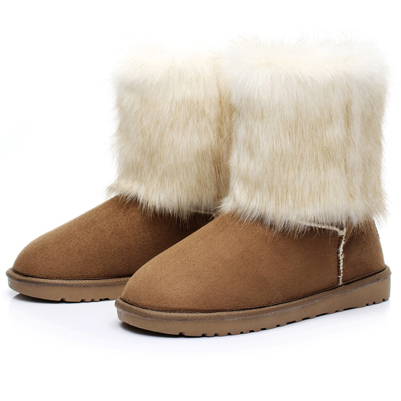 Ericdress Warm Mid calf Snow Boots
