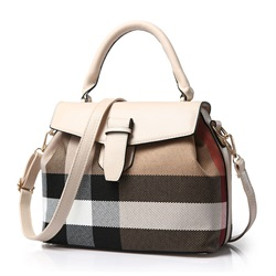 Ericdress Sweet Stereo Plaid PU Handbag фото