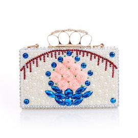 Ericdress Crystal Rose Rhinestone Evening Clutch