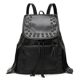 Ericdress Cool Rivets Tassel Decorated Backpack