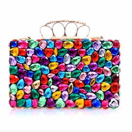 Ericdress Colorful Geometric Rhinestone Evening Clutch