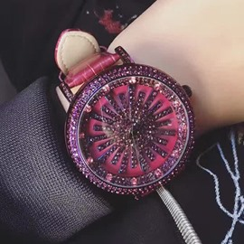 Ericdress Full Rhinestone High End Ultra Violet Watch for Women