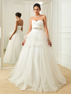 Ericdress Classic Sweetheart Beaded A Line Wedding Dress