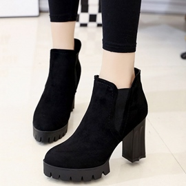 Ericdress Fashion British Chunky Heel Martin Boots