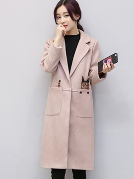 Ericdress Slim Animal Printed Polo Coat