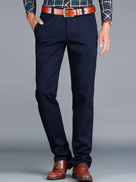 Ericdress Solid Color Loose Straight Casual Men's Pants