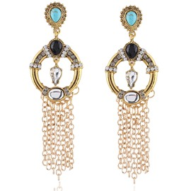 Ericdress Vogue Golden Chain Tassel Alloy Earrings