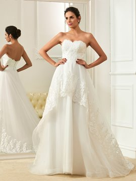 Ericdress High Quality Appliques Sleeveless Sweetheart A Line Wedding Dress