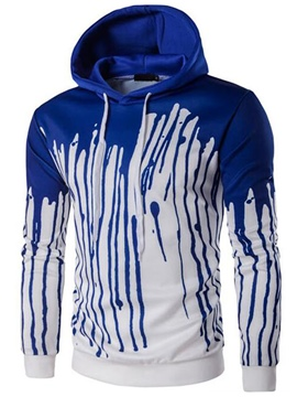 Ericdress Color Block Painted Casual Pullover Men's Hoodie