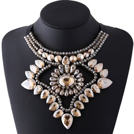 Ericdress Colorful Artificial Gemstones Inlaid Necklace