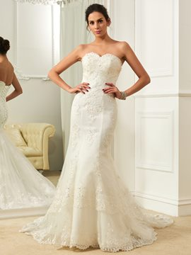 Ericdress Classic Sweetheart Beaded Mermaid Wedding Dress