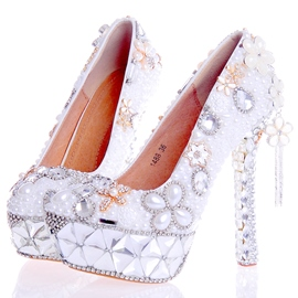 Ericdress Rhinestone Tassels Ultra-High Heel Wedding Shoes